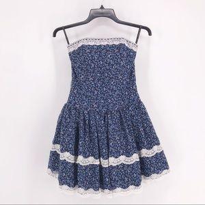 Jessica McClintock Strapless Floral Mini Dress
